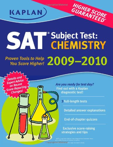 Kaplan Sat Subject Test: Chemistry 2009-2010 Edition (Kaplan Sat Subject Tests: Chemistry)