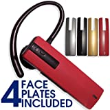 Blue Magic Bluetooth Headset Superior Sound Quality with 4 Multi color interchangeable face plates for all HTC phones