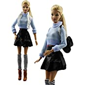 Set Of 6 Fashion Party Casual Blue Daily Dress Outfit For Barbie Clothes Xmas Gift