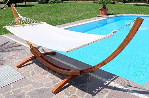 Amaca XL deluxe nobile 350cm con cornice in legno larice mod. 'LUCIA'