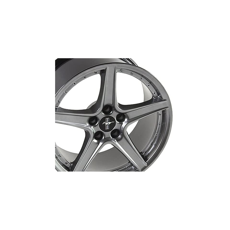 Ford Mustang Saleen R Style Wheel Silver Wheels Rims 1994 1995 1996 1997 1998 1999 2000 2001 2002 2003 2004 2005 94 95 96 97 98 99 00 01 02 03 04 05