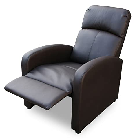 KMH®, Fernsehsessel / Relaxsessel *Patrick* - braun (Kunstlederbezug / verstellbar) (#204633)