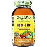 MegaFood - Baby & Me, Supports Strength, Balance and Mood of a Woman During Pregnancy, 120 Tablets (Premium Packaging)