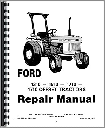 ford 1710 tractor service manual  amazon com  industrial