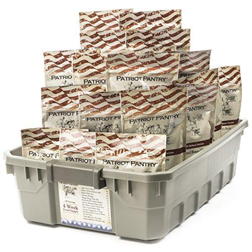 4-Week Emergency Food Supply - 140 Adult Servings