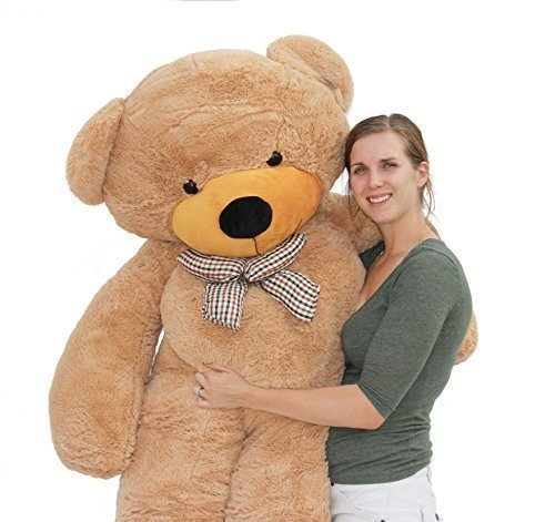 Joyfay-78-inches-Giant-Teddy-Bear-Light-Brown-65-feet-Stuffed-Teddy-Bear-Soft-Toy-For-Birthday-Valentine