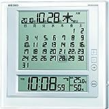 SEIKO CLOCK (セイコークロック) 掛時計 置時計 兼用 マンスリーカレンダー機能 六曜表示 デジタル 電波目ざまし時計 SQ422W