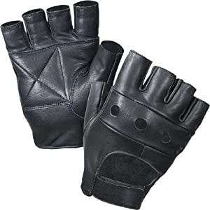 PrimeLeather Quality Real Leather Soft Fingerless Gloves XL For Weight Training Cycling Bike Wheelchair GYM Etc X-Large from Prime Leather