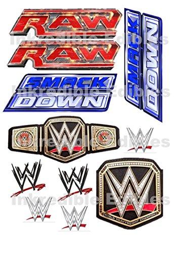 anillo-de-wwe-smackdown-raw-logo-comestible-tarta-de-cumpleanos-hoja-de-tarjeta-de-oblea-toppers