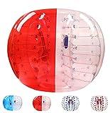 バブルサッカー直径5'(1.5m)人類ハムスタ一ボール、バブルボール、バンパーボール、ゾーブ、サイクルボール、循環ボール(赤色と白色)