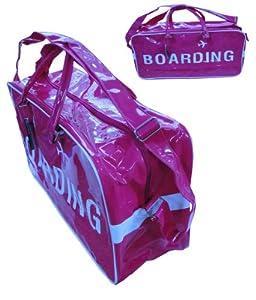 Sac voyage rose poignee sangle BOARDING valise cabine