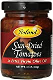Roland Sun-Dried Tomatoes in Extra Virgin Olive Oil, 3-Ounce Jars (Pack of 4)