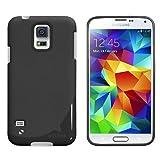 Ahha SturdyFlex Semi-Hard Back Case Cover for Samsung Galaxy S5 - Solid Black (A-SHSGS5-FSY1)
