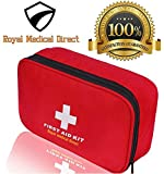 First Aid Kit 180 piece - Royal Medical Direct - Small and Light for Travel, School, Car, Emergency, Survival, Camping, Hiking, Office, Hunting, Sport and Home