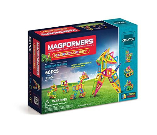 Magformers Creator Neon Color Set (60-pieces) JungleDealsBlog.com