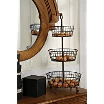 3-tier Rusty Metal Basket