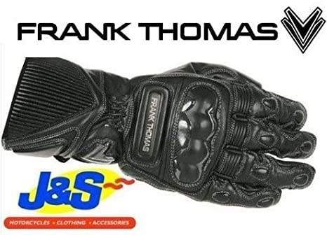 Frank Thomas seg187chicane Sport Gants de moto en cuir gants de moto sport noir J & S