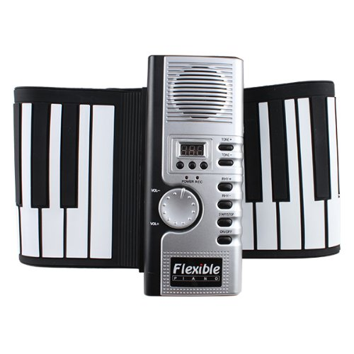 Agptek® 61 Keys Flexible Foldable Soft Portable Electric Digital Roll Up Keyboard Piano