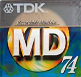 TDK 74-Minute Blank Audio MiniDisc, Single