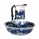 Chamber Pot Set Delft Blue Ceramic Chamber Pot And Pitcher   Renovator's Supply