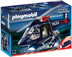 Playmobil City Action 5183 Police Helicopter