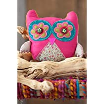 Just Be Pink Owl Shaped Pillow Natural Life