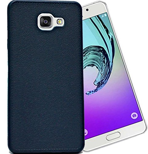 ECellStreet Soft Leather Finish Premium Back Case Cover Back Cover For Samsung Galaxy A5 A510F (2016) - Nevy Blue
