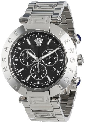 Versace Men's VA8020013 Reve Chrono Round Stainless Steel Date Watch
