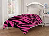 51WdbNh3O3L. SL160  Juvenile Reversible Zebra Cheetah Pink Comforter Twin