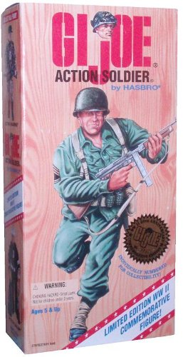Buy Low Price Hasbro G.I. Joe 1995 Limited Edition World War II 50th Anniversary Commemorative Series with Individually Numbered 12 Inch Tall Action Figure – Action Soldier with Army Uniform, Belt with 4 Grenades and Shoulder Straps, Canteen with Holder, Knife with Sheath, Helmet, Belt Pouch, Boots, Dog Tag and Assault Rifle (B002UHLMDK)