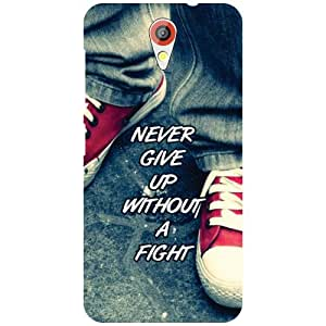 HTC Desire 620G Back Cover - Never give up Designer Cases