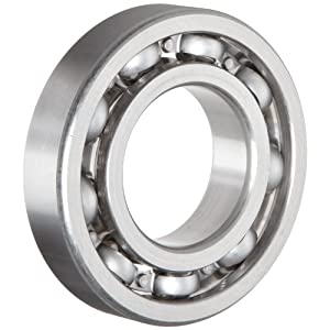 NSK 6203 Deep Groove Ball Bearing, Single Row, Open, Pressed Steel Cage, Normal Clearance, Metric, 17mm Bore, 40mm OD, 12mm Width, 17000rpm Maximum Rotational Speed, 1079lbf Static Load Capacity, 2147lbf Dynamic Load Capacity