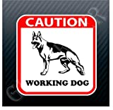 51Wdfg0ZQNL. SL160  Caution Working Dog German Shepherd Sign Sticker Decal Reviews