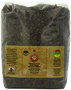 Reggie's Roast Whole Bean  Coffee, Fair Trade Organic Blend, 5 Pound
