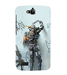 printtech Swag Movie Robot Back Case Cover for Huawei Honor Holly