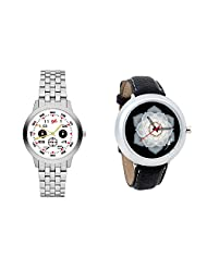 Gledati Men's White Dial And Foster's Women's Black Dial Analog Watch Combo_ADCOMB0001798