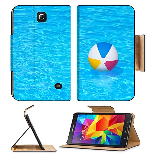 MSD Premium Samsung Galaxy Tab 4 7.0 Inch Flip Pu Leather Wallet Case Inflatable colorful ball floating in a swimming pool IMAGE 24181082
