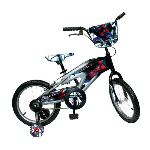 Spiderman Boys BMX Black & Red Bike, 16-Inch