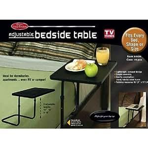TV Trends Adjustable Bedside Table, Black