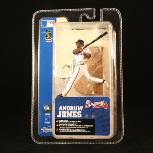 McFarlane Toys MLB 3 Inch Sports Picks Series 5 Mini Figure Andruw Jones (Atlanta Braves)
