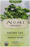 Numi Organic Savory Tea Spinach Chive, 12 Count