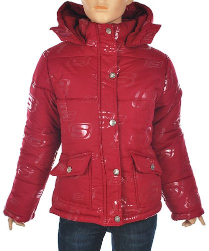 Skechers Raspberry Radiance Girls Jacket with hood (sizes 7-16)-10/12