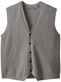 Perry Ellis Men's Big-Tall Button Front Sweater Vest