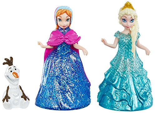 Disney Frozen Glitter Glider Anna, Elsa, and Olaf Figures