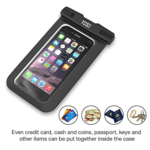 -LIFETIME-WARRANTY--YOSH-Universal-Waterproof-Case-bag-for-Apple-iPhone-6s-6-Plus-Samsung-Galaxy-S6-Edge-Best-Water-Proof-Dust-Dirt-Proof-Snowproof-Pouch-for-cell-phones-up-to-6-inches