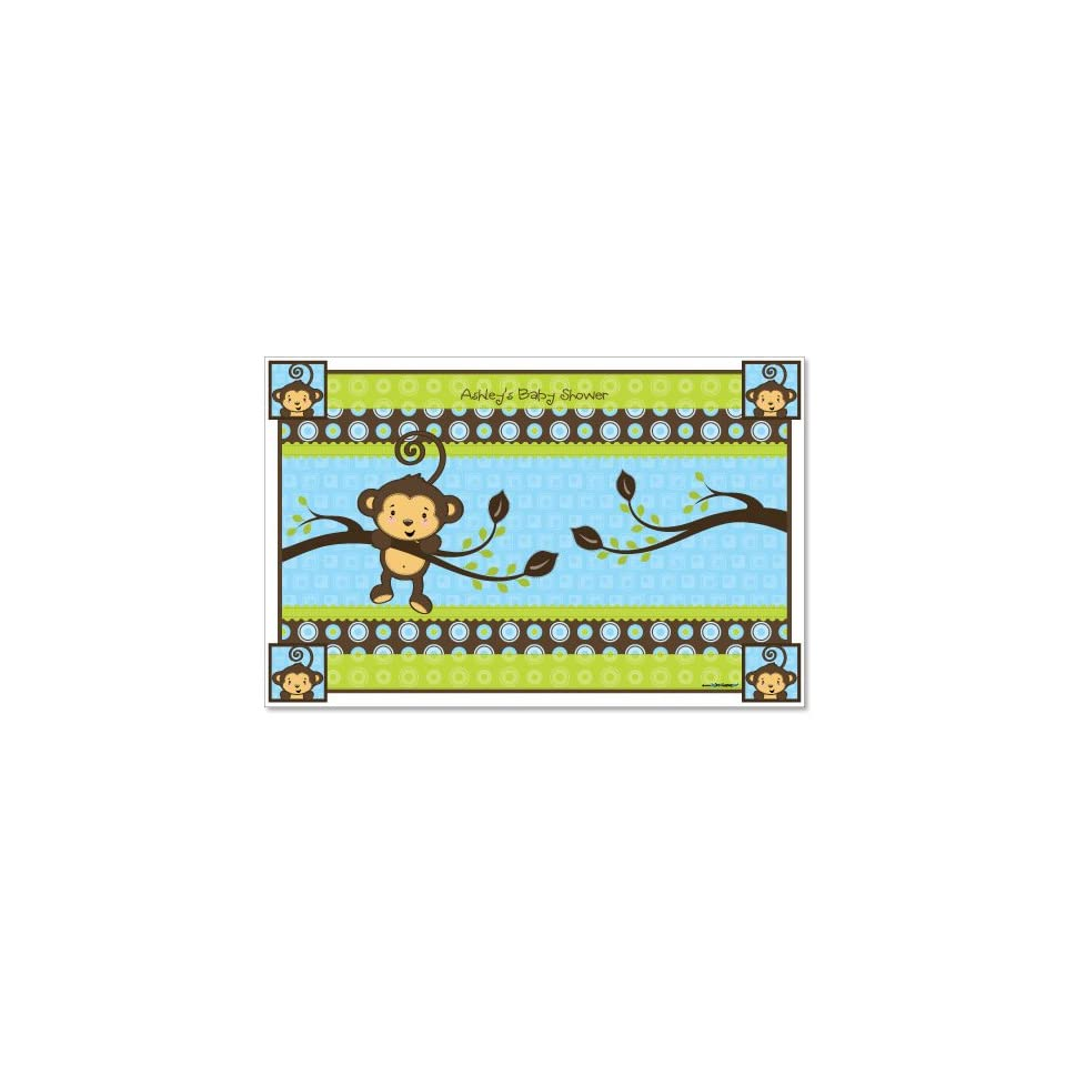 Monkey Boy   Baby Shower Personalized Placemats Toys & Games