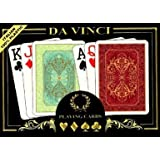 Da Vinci Persiano, Italian 100% Plastic Playing Cards, 2-deck Set Poker Size, W/hard Shell Case & 2 Cut Cards