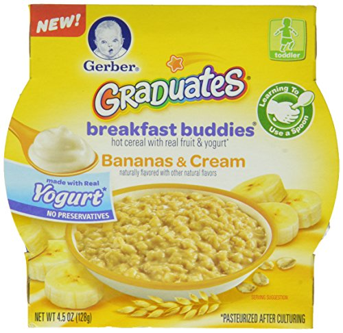 Gerber Graduates Breakfast Buddies Cereal, Banana Cream, 4.5 Ounce, 8 Count - 1