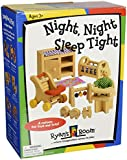 Small World Toys Ryan's Room Wooden Doll House -Night, Night Sleep Tight Nursery Room