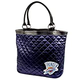 OKLAHOMA CITY THUNDER NBA QUILTED TOTE (NAVY) by NYC Leather Factory Outlet